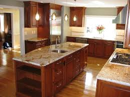 kitchen wall colors with brown cabinets small storage