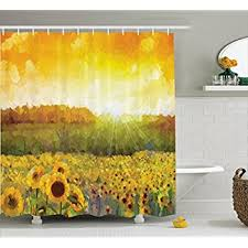 Sunflower Themed Bedroom Amazon Com Chezmoi Collection White Green Yellow 3d Sunflower
