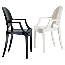 Black And White Armchairs Louis Ghost Chair Kartell