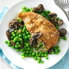 thanksgiving peas slow cooker mushroom chicken u0026 peas recipe taste of home