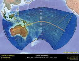 Eclipse Maps Annular Solar Eclipse Of 2013 May 10