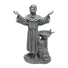 design toscano st francis s blessing garden statue