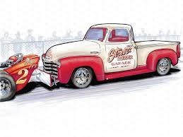 Classic Chevy Trucks 80s - a homebuilt 1954 chevy pickup inspired by street rodder rod