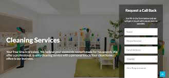 website designed for cleaning company client