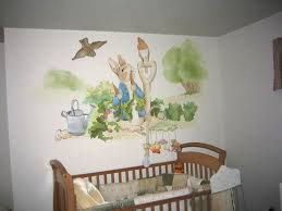 Beatrix Potter Nursery Decor Nursery Mural After The Book Rabbit Childrens Room Murals