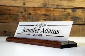 unique name plates desk sign and acrylic name plate personalized wood professional