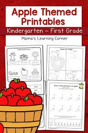 Sort Worksheets Alphabetically Apple Worksheets For Kindergarten First Grade Mamas Learning Corner