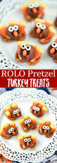 thanksgiving oreo turkey cookies recipe rolo pretzel turkey treats