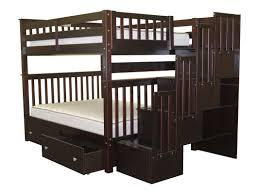 Berg Bunk Beds by Bedz King Stairway Full Over Full Bunk Bed With Storage U0026 Reviews