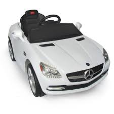 mercedes white soozier aosom mercedes benz slk kids 6v battery powered car