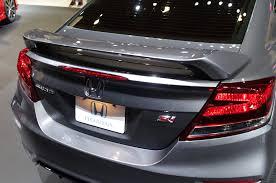 honda civic si modified design spoiler car honda civic si seibon rear spoiler paying it