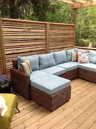 Outdoor Deck Furniture by Best 25 Outdoor Privacy Screens Ideas Only On Pinterest Patio