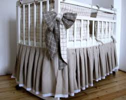 Baby Crib Bed Skirt Linen Crib Skirt Etsy