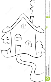 drawing of a house stock photo image 10987110