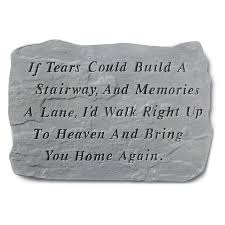 personalized memorial stones if tears could build a stairway memorial with personalized