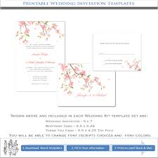 cherry blossom wedding invitations cherry blossom wedding invitations diy printable template kits