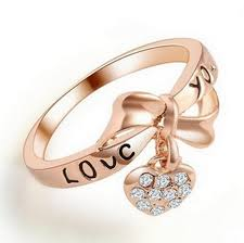 gold cute rings images 2018 alphabet love you bowknot caring rings zircon tanabata jpg