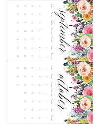 Ikea Calendar Free Printable 2017 Floral 5x7 Calendar The Cottage Market