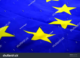 Blue Flag With Stars Eu European Union Flag Blue Yellow Stock Photo 45672445 Shutterstock
