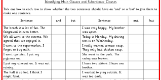 identifying main clauses and subordinate clauses ks2 spag test