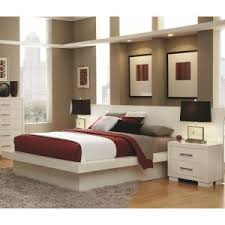 Modern Platform Bed With Lights - maddy warm gray modern platform bed contemporary beds