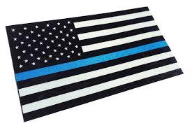 Blue And Black Flag Amazon Com Thin Blue Line Reflective 3 75 X 2 25 Decal Sticker