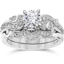 overstock wedding ring sets overstock wedding rings sets bliss 14k white gold 3 4ct tdw