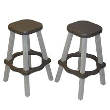 resin wicker bar stools leisure accents 26 in taupe resin patio high bar stools set of 2