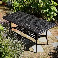 Garden Coffee Table Rectangular Metal Garden Coffee Table Lazy Susan