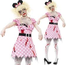 ladies zombie minnie mouse cartoon dead corpse halloween fancy