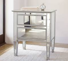 Mirror Sofa Table by Park Mirrored 2 Drawer Bedside Table Pottery Barn