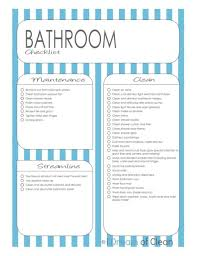 cleaning ideas clean bathroom checklist fromgentogen us