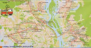 Kiev Map Misc Post Your Cities Tram Maps Tram Cars And Other Info
