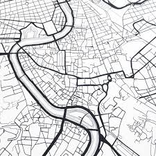 Italy City Map by Rome Map Street Map Italy City Map Drawing Black And White