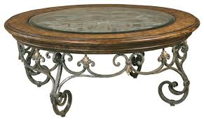 Traditional Coffee Table Coffee Table Wood And Wrought Iron Round Coffee Table Base