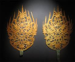 baekje gold crown ornaments illustration ancient history