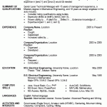 Resume Format Template Microsoft Word 100 Resume Format Template Free Download Resume Format Basic