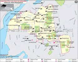 map usa new hshire dartmouth college map dartmouth college location map