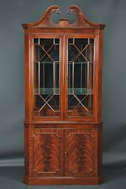 glass doors cabinets china cabinet amish furniture corner china cabinet with glass