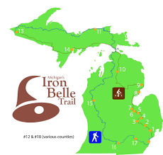 Michigan Trail Maps by Iron Belle Trail Segments In Saginaw County Receive State Grants