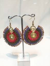 thailand earrings high quality macrame earring cheap price with brass thailand