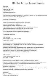 Sample Resume Driver Sample Resume For City Bus Driver Application Certification Kit
