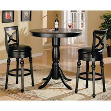 bar top table and chairs finish round top counter height 3 piece bar table set by coaster