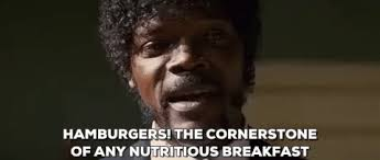 Samuel L Jackson Pulp Fiction Meme - pulp fiction burger gif find share on giphy