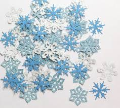 winter decorations blue and silver glitter snowflake christmas party winter