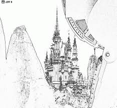 disney world castle coloring page kids coloring