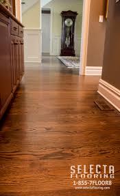 Desert Oak Brushed Dark Brown Pantry Finished With Duraseal In Jacobean On Red Oak Hardwood