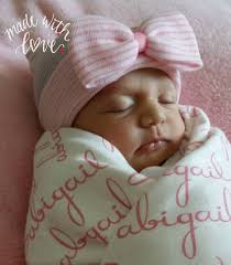Personalized Names Personalized Gift Set Newborn Hospital Hat Regular Top Double