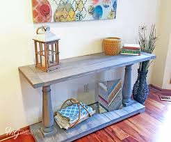 Diy Console Table Plans How To Build A Diy Balustrade Console Table