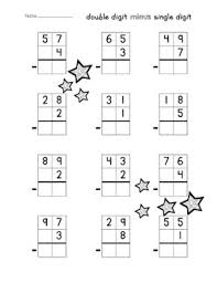 single digit subtraction without regrouping digit addition subtraction without regrouping worksheet pack
